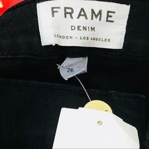 NWT Frame Denim in Black Le Skinny